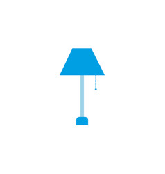 floor lamp energy electricity light flat icon vector image