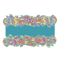 Floral ethnic frame hand-drawn vector image vector image