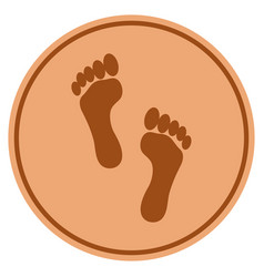 Footprints bronze coin vector