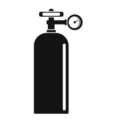 Gas welding ballon icon simple style vector