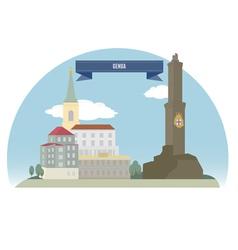 Genoa vector image