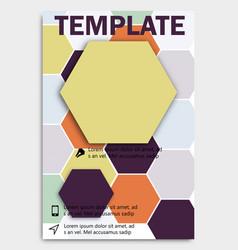 Geometric shape diamond abstract template vector