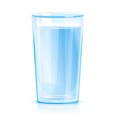 Glass clean water isolated vector