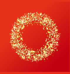 gold ring made sparkling pieces vector image