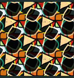 graffiti abstract geometric background vector image