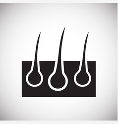 Hairs icon on white background for graphic and web vector