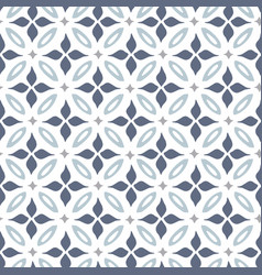 hand drawn blue moroccan seamless pattern for vector image
