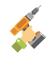 Hand with screwdriver isolated vector