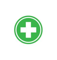 healthcare cross icon graphic design template vector image