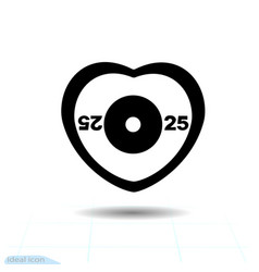 heart black icon sport love symbol the vector image