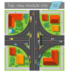 Highway junction roads vector image