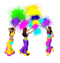 isometry of the spring festival festival of colors vector image