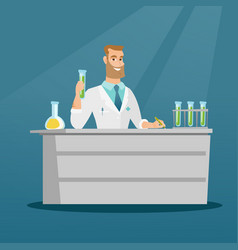 laboratory assistant at work vector image vector image