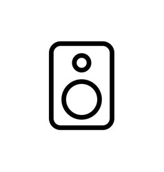 line speaker icon on white background vector image