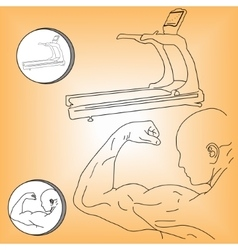 Logo athlete and treadmill vector image