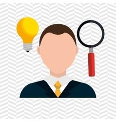 looking person design vector image