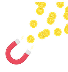 magnet money vector image