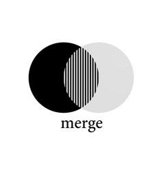merge fusion icon vector image