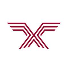 monoline eagle logo vector image