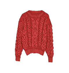 New year red knitted sweater winter collection of vector