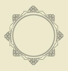 ornament decorative frame 06 vector image