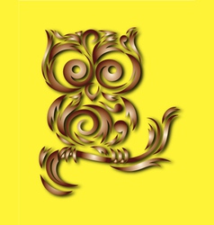 Owl bird ornament vector