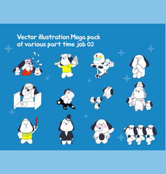 part-time jobs represented by dog character vector image