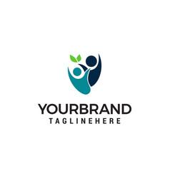 people healthy eco logo designs template vector image