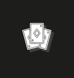 playing card - casino symbol - playing cards sign vector image
