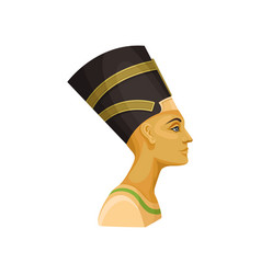 portrait of nefertiti queen of ancient egypt vector image