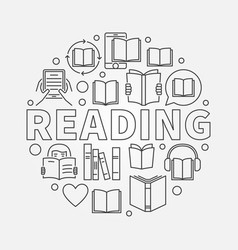 reading round line vector image