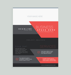 red and black business brochure design template vector image