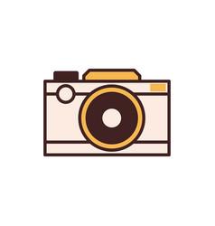 Retro film camera icon vector