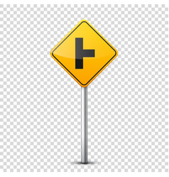 Road yellow signs collection isolated on vector