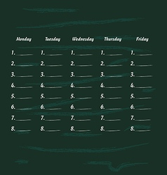 school timetable icon illstration part one vector image vector image