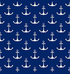 seamless pattern with anchor travel concept vector image