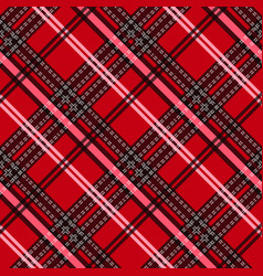 seamless tartan plaid pattern fabric pattern vector image