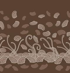 Seaweed seamless pattern vector image