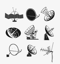 set antenna symbols vector image