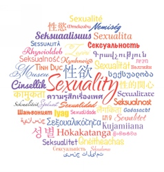 Sexuality in different languages vector