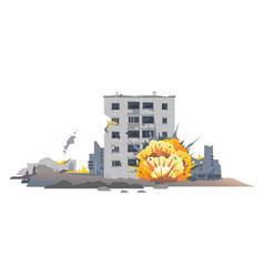 Shelling of residential areas vector
