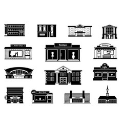shops markets and others municipal buildings vector image