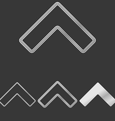 Silver line arrow logo design set vector