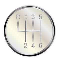 Six speed gear knob vector