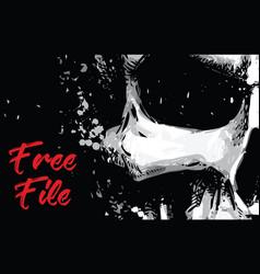 Skull artistic splatter free file vector