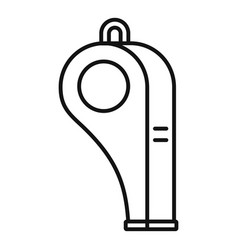 Sport whistle icon outline style vector