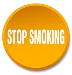 Stop smoking orange round flat isolated push vector