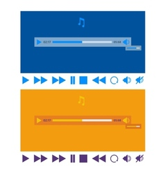 Stylized flat design music player application vector image