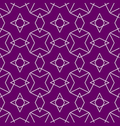 tile pattern or violet and white wallpaper vector image