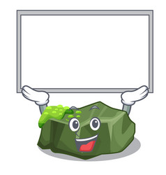 up board cartoon green rock sample of high grade vector image